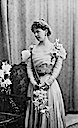 Marie of Romania wearing dress with wide top band