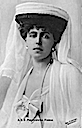 Marie Romania wearing hat and veil post card