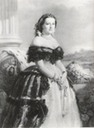 Marie Henriette in crinoline evening dress