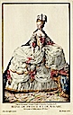 Marie-Antoinette in court dress print