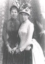 Archduchesses Marie Valerie and Gisela wearing second bustle era dresses