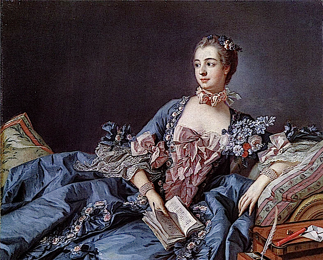 1756 Marquise de Pompadour in blue dress by Francois Boucher (National Galleries of Scotland, Edinburgh)