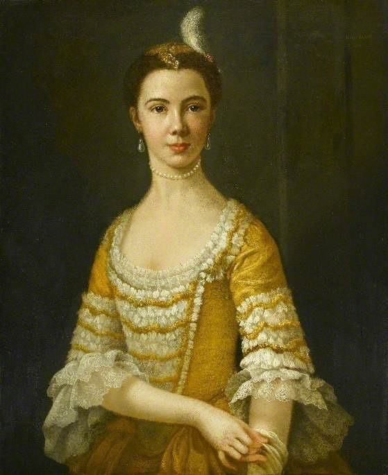 Mary Russell (d.1813), Daughter of Colonel Charles Russell by George Chalmers (Chequers Court - Aylesbury, Buckinghamshire, UK - no public access) From artuk.org
