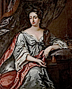 Mary II wearing a white dress by Willem Wissing (location unknown to gogm)