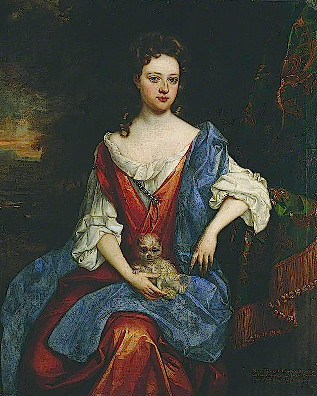 Mary, Lady Barrington Bourchier (d.1700) attributed to Willem Wissing (Ferens Art Gallery - Hull UK) From bbc.co despotted throughout