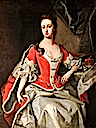Mary Preston (d.1724), Marchioness/Duchess of Powis, in Peeress's Robes by Michael Dahl (Powis Castle - Welshpool, Powys, UK)