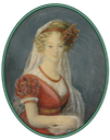 Miniature of Aglae de Polignac, Duchesse de Guiche, only daughter of the Duchesse de Polignac by ? (sold by Boris Wilnitsky) From pinterest.com-pin-286752701248745793- Mercy Saint-Denis Teamwork removed