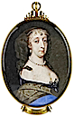 Miniature of Lady Penelope Compton, Wife of Sir Edward Nicholas by Samuel Cooper (Lewis Walpole Library, Yale University - New Haven, Connecticut USA)