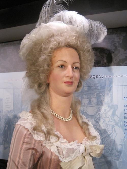 Most recent version of the Marie Antoinette model in Madame Tussaud's in London From i..pinimg.com/originals/12/34/e2/1234e2c396f4335371e1472d67c3b2a2 via pinterest.com/bstine1960/marie-antoinette/.jpg