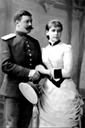 Olga Valerianovna Pistolkors with her first husband Eric Pistolkors