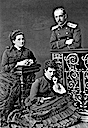 Olga, her husband George, and her sister in law Maria Feodorovna