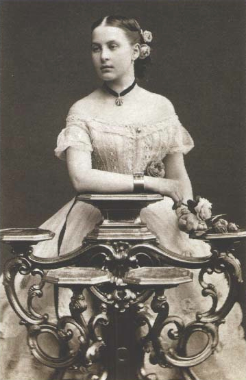 Olga Konstantinovna as a young woman post card