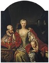 Portrait de Polissena Cristina d'Assia-Rheinfels, épouse de Carlo-Emmanuel III, with her children Vittorio Amedeo, future Amedeo III, and Eleonora Maria Teresa by Martin van Meytens and studio (auctioned)