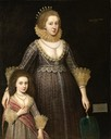 1619 Portrait of Christian, Lady Cavendish, née Bruce, later Countess of Devonshire and her daughter by Paul van Somer (North Carolina Museum of Art - Raleigh, North Carolina, USA)