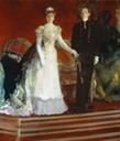 Portrait of María Cristina and King Alfonso XIII of Spain by Joaquin Sorolla y Bastida (Foreign Ministry, Madrid Spain)