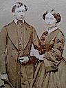Prince of Wales and sister Alice carte de visite