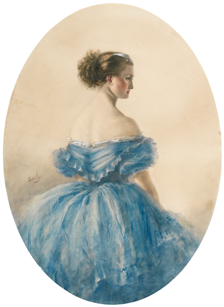 Princess Anna Wittgenstein by Count Mihaly von Zichy (auctioned by Sotheby's) copy