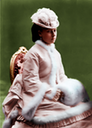 Princess Beatrice seated colorized by justine