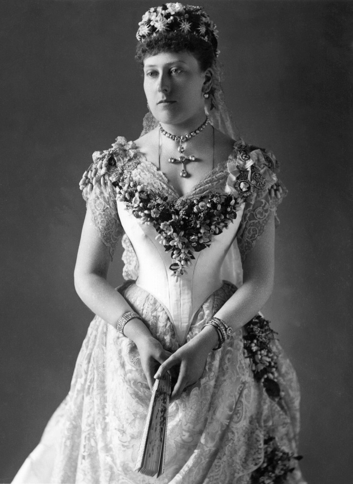 1885 Princess Beatrice posing in her wedding dress From thelostgallery despotted throughout