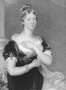 1817 Princess Charlotte wearing maternity dress after Sir Thomas Lawrence