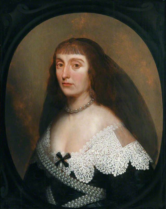 Princess Elizabeth Stuart (1596–1662), Queen of Bohemia, the 'Winter Queen' by Gerrit van Honthorst (Hatchlands - East Clandon, Guildford, Surrey, UK) From artuk.org