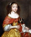 Princess Louisa of the Palatinate (1622 - 1709) by ? in a gold dress with red wrap