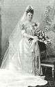 1877 Princess Marie of Waldeck Pyrmont as bride of King Wilhelm ll of Wurttemberg