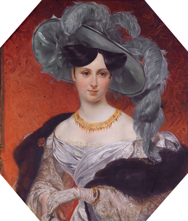 Princess Stephanie Radziwil (1809-1832) by ? (auctioned by Sotheby's) Wm