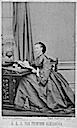 1862 Princess Alexandra of Denmark, who married the Prince of Wales by Mayall carte de visite