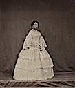 Princess Alice wearing a three-flounced dress