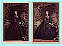 1861 (4 July) Pair of photos of Princess Alice by Camille Silvy