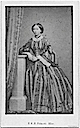 1850s (late) Princess Alice standing wearing vertical striped crinoline by William Henry Southwell