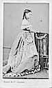 Princess Alice wearing a dress with a small bustle by Disderi