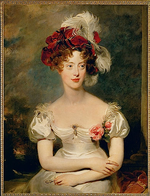 Princess Caroline Ferdinande of Bourbon-Two Sicilies (1798–1870), Duchess of Berry by Sir Thomas Lawrence (Versailles)