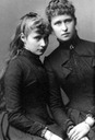 Princesses Alexandra (later Tsaritsa) and Irene of Hesse