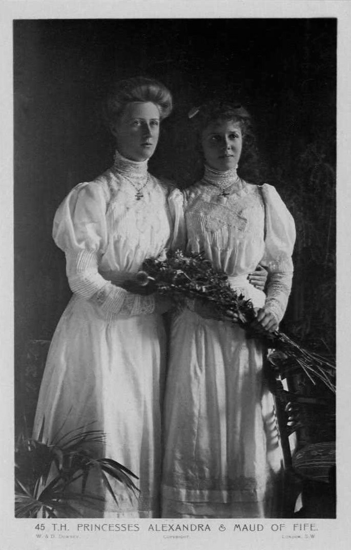 Princesses Maud and Alexandra of Fife by W. & D. Downey eBay detint