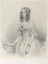 1840 Drawing of Princess Victoire Duchess de Nemours by Franz Xaver Winterhalter (location unknown to gogm)