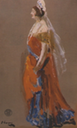 Priscilla Countess Annesley dressed for court by Sir John Lavery (Down County Museum, Downpatrick Northern Ireland)
