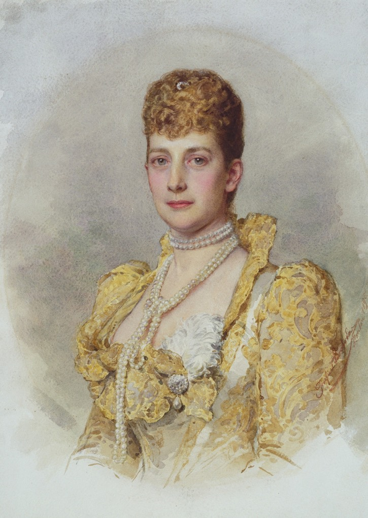 Queen Alexandra of Great Britain when she was Princess of Wales by Josephine Swoboda (Royal Collection) From hotel-haute-societe.tumblr.com/post/66263525058/portrait-of-queen-alexandra-by-josefine-swoboda