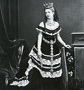 Queen Margherita in flounced dress From Google search probably from bbc.co