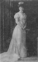 Queen Sophie standing in evening dress