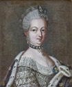 Queen Sophie-Magdalene of Sweden, née Denmark by Lorens Pasch the Younger (location unknown to gogm)