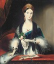 Queen Victoria at Drury Lane theatre after Franz Xaver Winterhalter (auctioned by Christie's)
