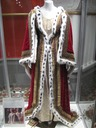 Queen Victoria's coronation dress & pre-coronation robe used in filming Young Queen Victoria on display at Victoria Mall in Sydney NSW
