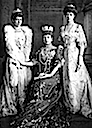 ca. 1905 Princess Louise, Queen Alexandra, and Princess Victoria