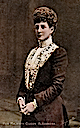 Queen Alexandra colorized post card