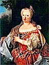 Queen Maria Anna of Portugal, nee Habsburg 1683-1754 by ? (Museo Nacional dos Coches, Lisboa Portugal)