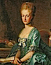 Queen Maria Carolina of Naples wearing a robe à la française by ? (location unknown to gogm)
