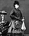 Queen Olga as a young woman dressed to go out