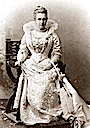 Queen Olga of Greece dressed for a costume ball
